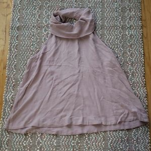 NWOT Free People Cowl Neck Open Back Tank Top